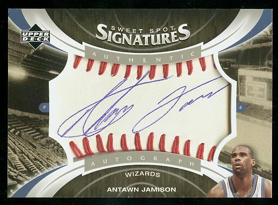 2006-07 Sweet Shot Sweet Spot Signatures #AJ Antawn Jamison
