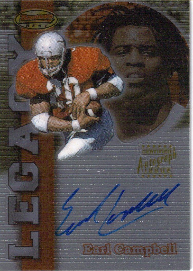 1999 Bowman's Best Legacy Autographs #LA2 Earl Campbell