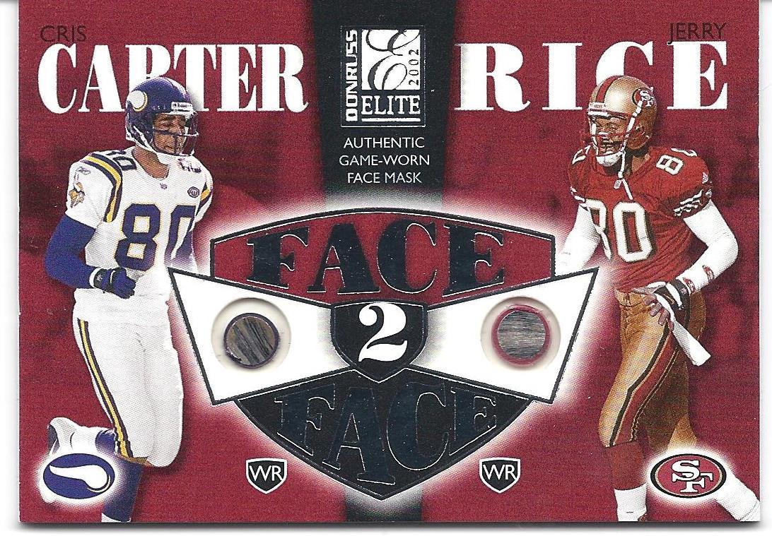 b285424e1 2002 Donruss Elite Face to Face  FF10 Cris Carter Jerry Rice