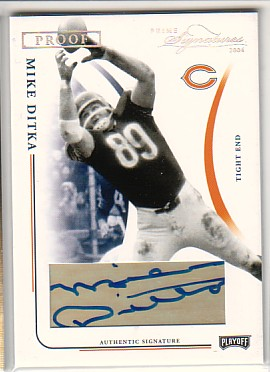 2004 Playoff Prime Signatures Signature Proofs Silver #16 Mike Ditka/35