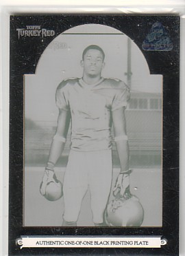 2006 Topps Turkey Red Printing Plate Black #142 Troy Williamson