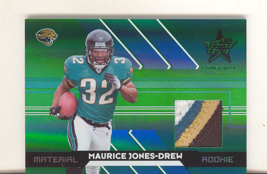 2006 Leaf Rookies and Stars Longevity Black Parallel #256 Maurice Drew JSY