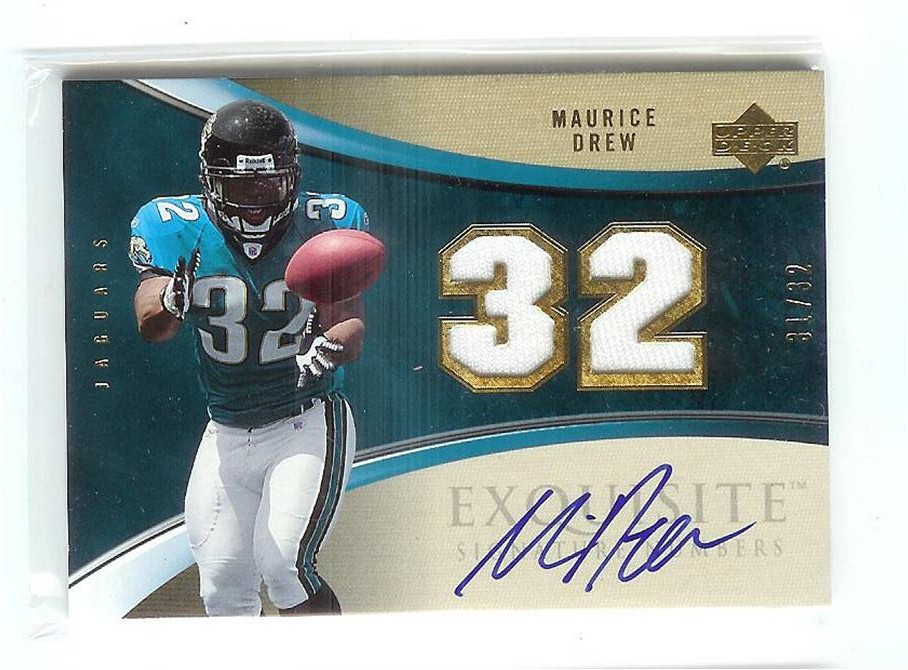 2006 Exquisite Collection Signature Numbers #ESNMD Maurice Drew/32