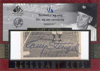 2003 SP Legendary Cuts Autographs #CS Casey Stengel/3