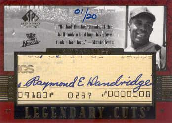 2003 SP Legendary Cuts Autographs #RD Ray Dandridge Hands/20