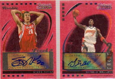 2006-07 Topps Trademark Moves Autographs Wood Red #74 Gerald Wallace/10