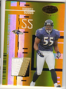 2005 Leaf Certified Materials Mirror Gold Materials #12 Terrell Suggs