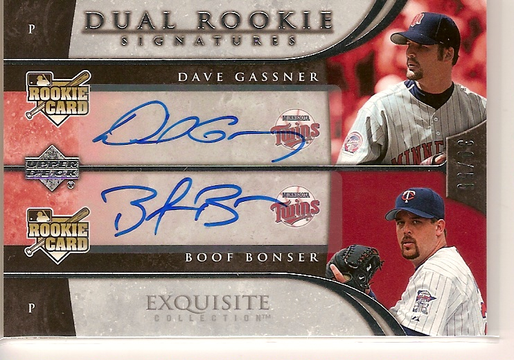 2006 Exquisite Collection #19 Gassner (RC)/Bonser (RC)