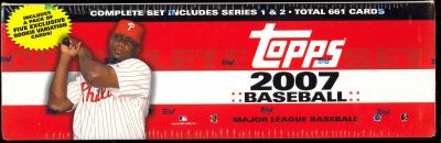 2007 Topps Unopened Baseball Factory Sealed Complete Set (Colorful Red Ryan Howard Box) (666 Cards)