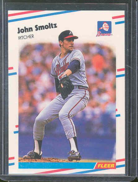 1988 Fleer Update Glossy #74 John Smoltz