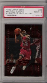 1999 Upper Deck Athlete Of The Century #29 Michael Jordan PSA Mint 9 NICE!!