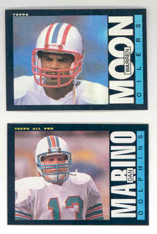 1985 Topps Football Complete SET of 396 Cards:  Warren Moon RC, 2nd year Marino, Elway