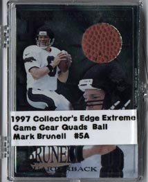 1997 Collector's Edge Extreme Game Gear Quads #5F Mark Brunell FB