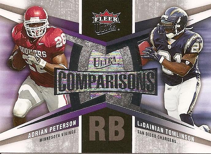 2007 Ultra Comparisons #PT Adrian Peterson/LaDainian Tomlinson