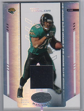 2004 Leaf Certified Materials Mirror White Materials #53 Fred Taylor