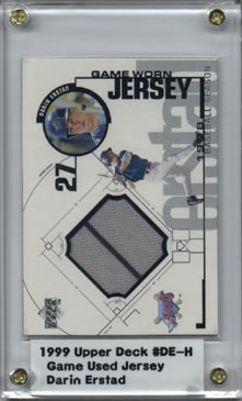 1999 Upper Deck Game Jersey #DE Darin Erstad H1