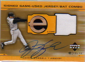2001 Upper Deck Evolution e-Card Game Bat-Jersey Autograph #JBJK Jason Kendall