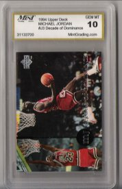 1994 Upper Deck #J3 Michael Jordan Decade Of Dominance Gem Mint 10