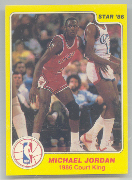 1986 Star Court Kings #18 Michael Jordan