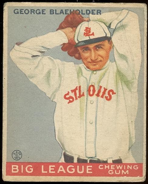 1933 Goudey #16 George Blaeholder RC