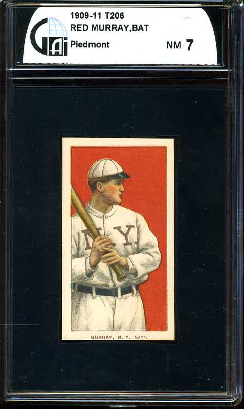 1909-11 T206 #354 Red Murray/Batting