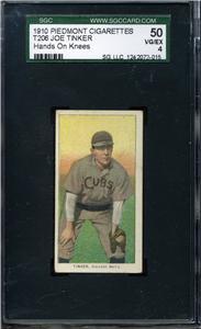1909-11 T206 #490 Joe Tinker/Hands on Knees