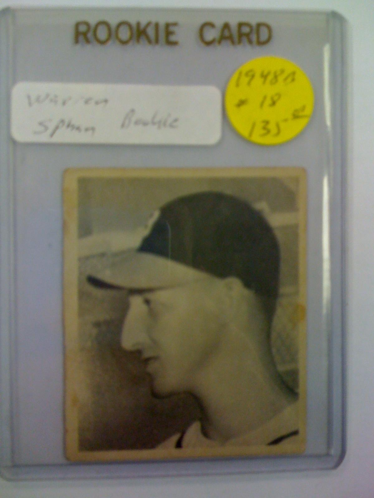 1948 Bowman #18 Warren Spahn RC