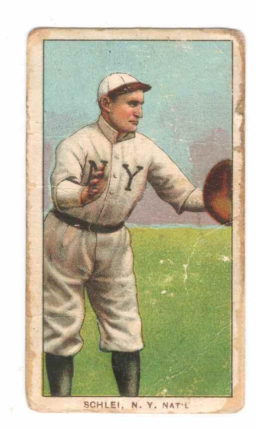 1909-11 T206 #426 Admiral Schlei/Catching