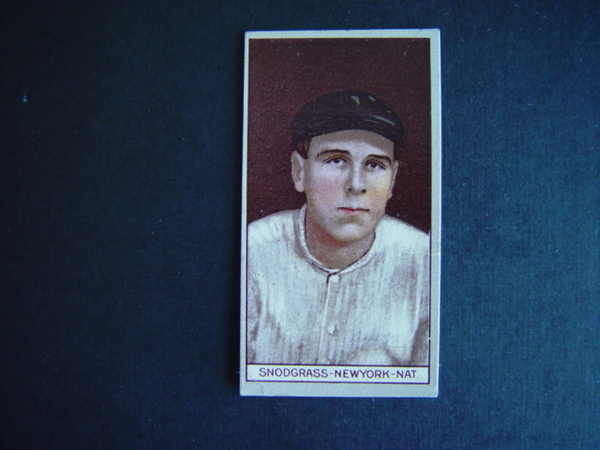 1912 T207 Brown Background #169 Fred Snodgrass
