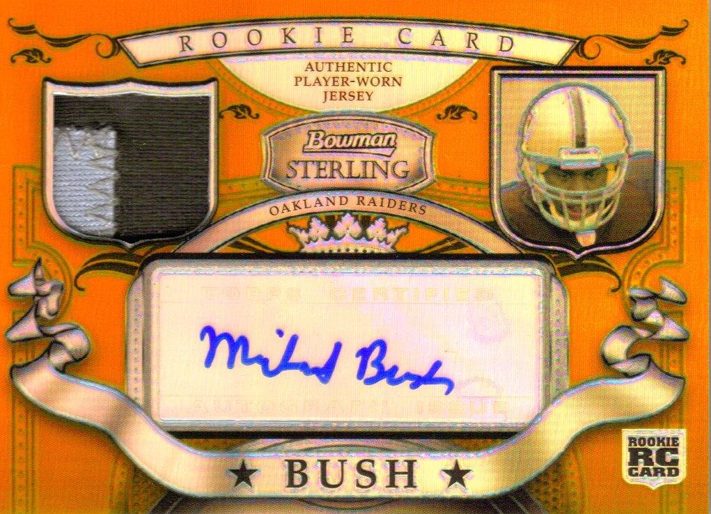 2007 Bowman Sterling Gold Relic Autographs #MB Michael Bush/150