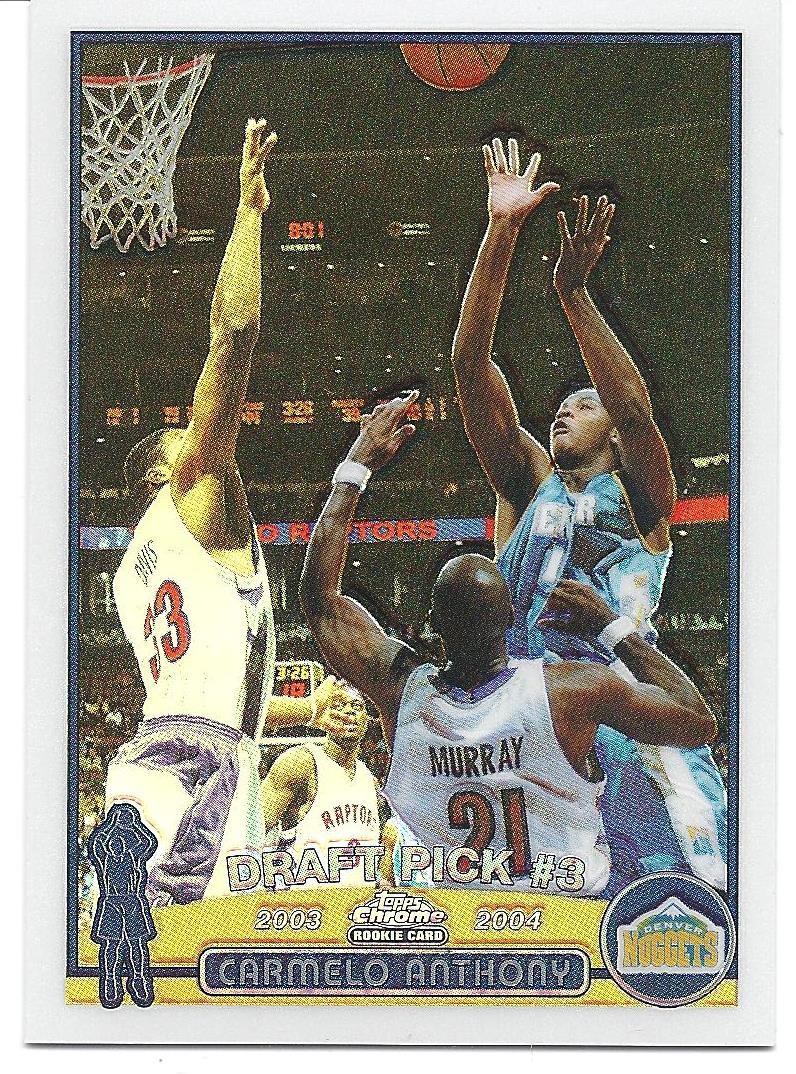 2003-04 Topps Chrome Refractors #113 Carmelo Anthony