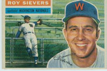 1956 Topps #75 Roy Sievers DP