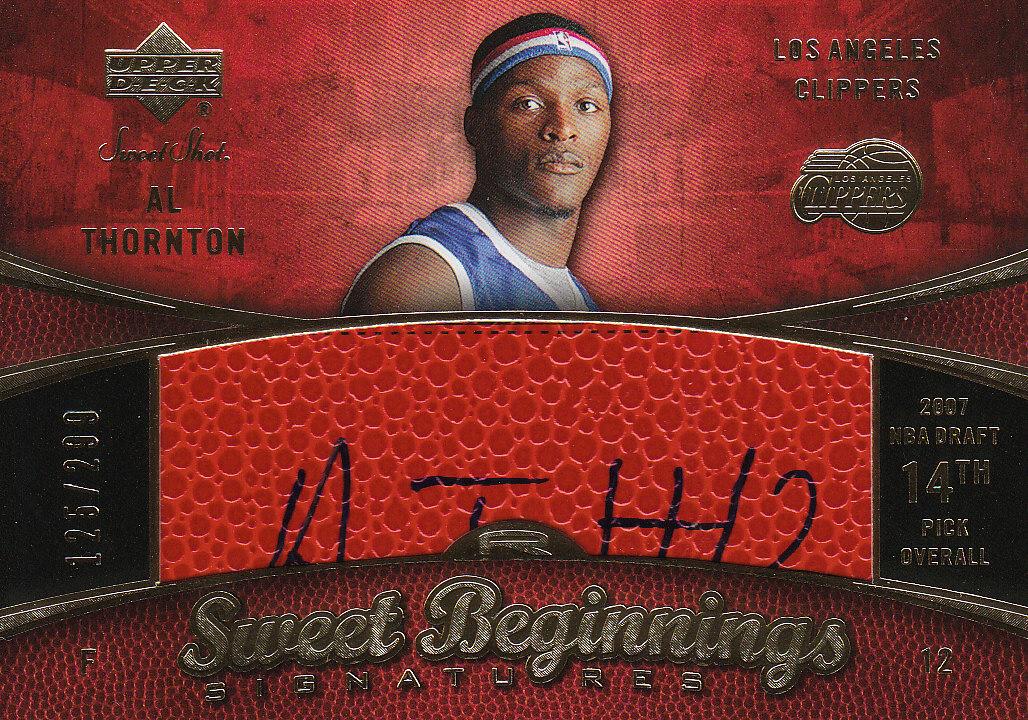 2007-08 Sweet Shot #95 Al Thornton AU RC