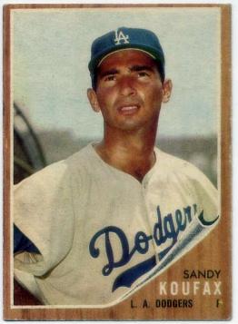 1962 Topps #5 Sandy Koufax UER/Struck out 18