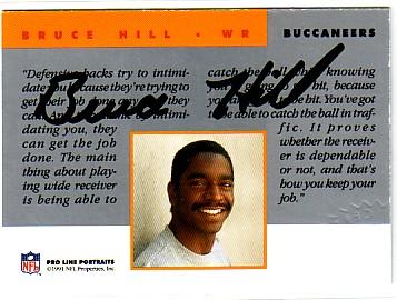 1991 Pro Line Portraits Autographs #100 Bruce Hill