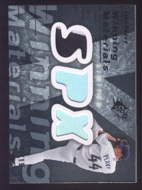 2007 SPx Winning Materials Patches Silver #JP Jake Peavy/99
