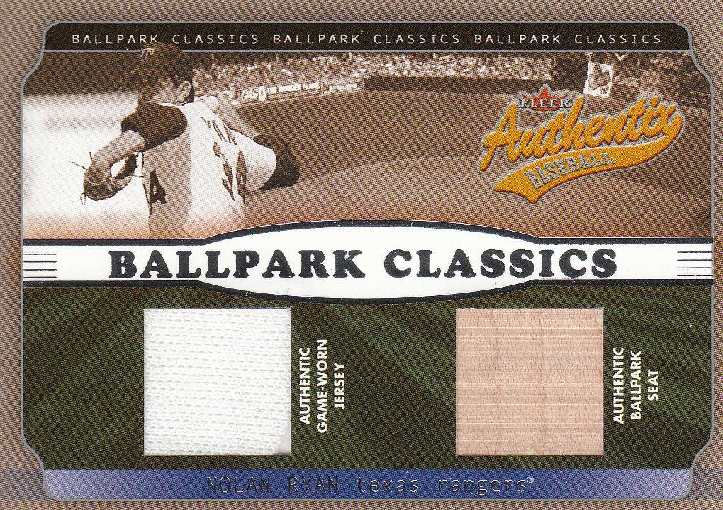 2002 Fleer Authentix Ballpark Classics Memorabilia Gold #NR Nolan Ryan Jsy/Seat