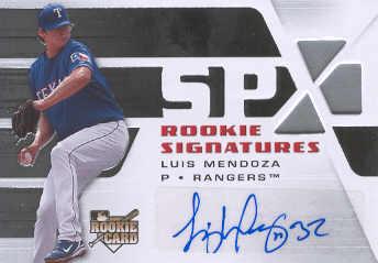 2008 SPx Silver #142 Luis Mendoza AU
