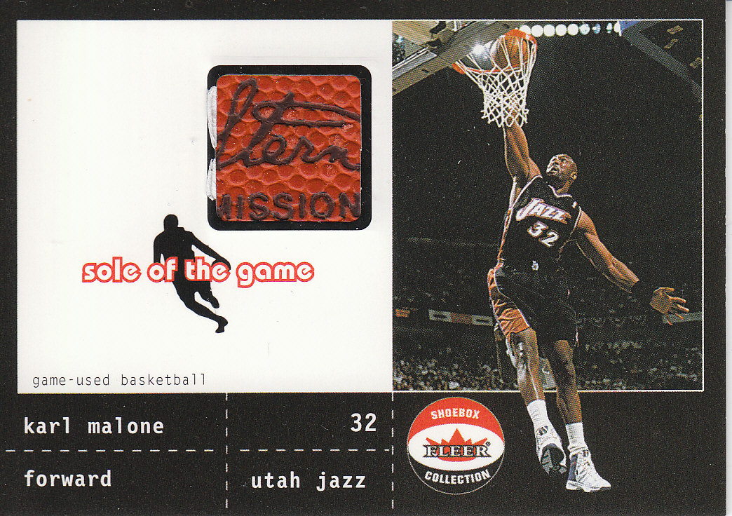 2001-02 Fleer Shoebox Sole of the Game Ball #6 Karl Malone
