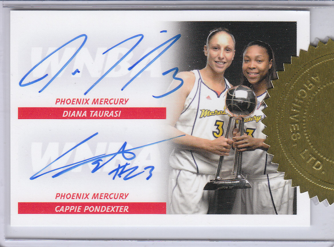 2008 WNBA 3-Case Incentive #TP Diana Taurasi AU/Cappie Pondexter