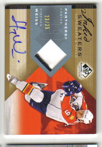 2007-08 SP Game Used Inked Sweaters Patches #ISWE Stephen Weiss