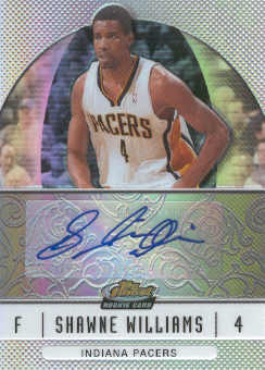 2006-07 Finest Rookie Autographs Refractors #92 Shawne Williams F