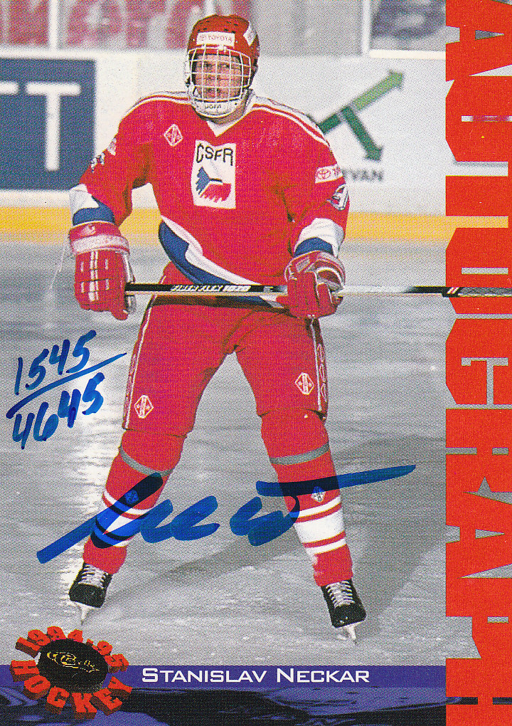 1994 Classic Autographs #NNO Stanislav Neckar/4645