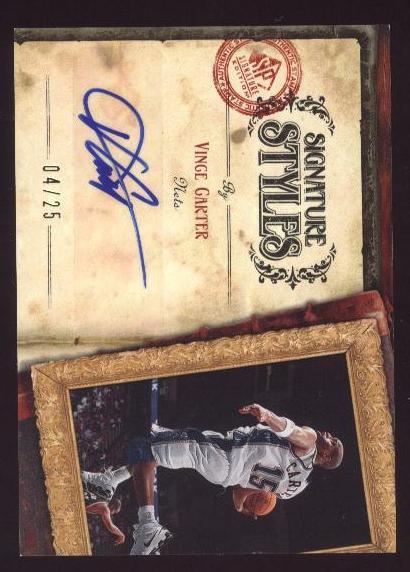 2006-07 SP Signature Edition Signature Style #VC Vince Carter