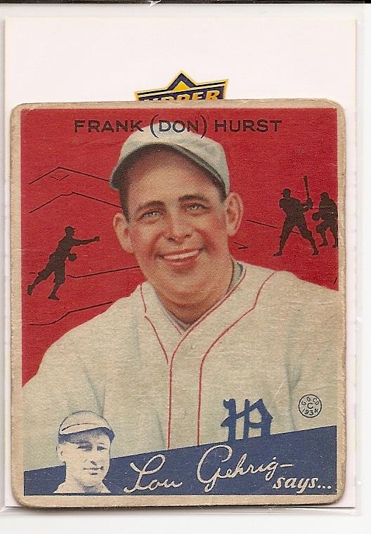 1934 Goudey #33 Don Hurst RC