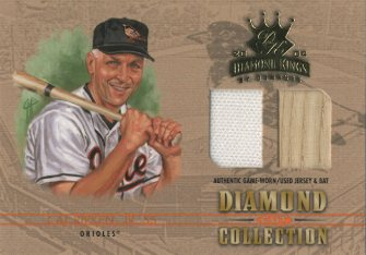 2004 Diamond Kings Diamond Cut Combos Material #DC38 Cal Ripken Bat-Jsy/8