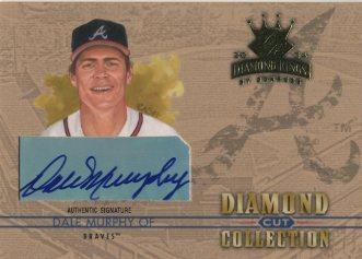 2004 Diamond Kings Diamond Cut Signatures #37 Dale Murphy/3
