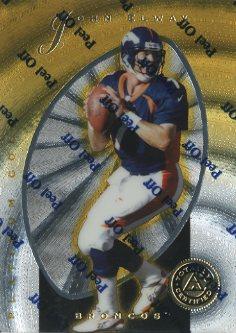 1997 Pinnacle Totally Certified Platinum Gold #10 John Elway