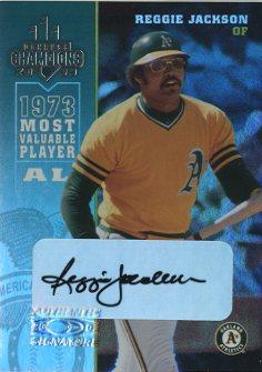 2003 Donruss Champions Autographs #188 Reggie Jackson/9