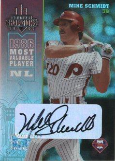 2003 Donruss Champions Autographs #200 Mike Schmidt/20